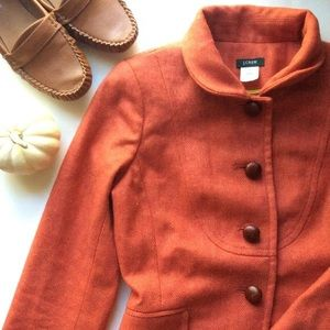 J. Crew Wool Herringbone Bella Jacket